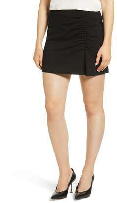 1 STATE 1.State Ruched Detail Stretch Ponte Miniskirt