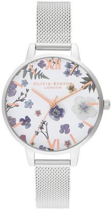Olivia Burton Artisan Silver & Rose Gold Watch