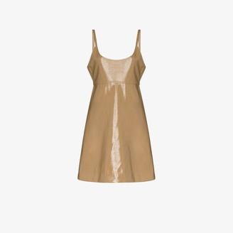 Ganni Strappy patent leather dress