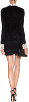 Valentino Wool-Mohair Beaded Dress