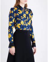 Altuzarra Marlowe floral silk-jacquard shirt