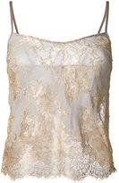 Yes Master - Clarita Boudoir camisole - women - Silk/Spandex/Elastane - S