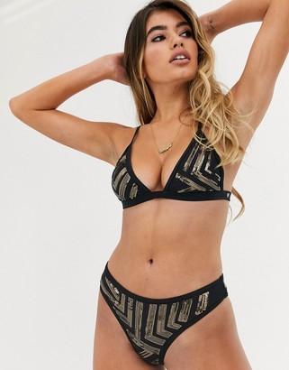 Candypants Candy Pants mesh insert triangle bikini top