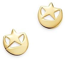 Moon & Meadow 14K Yellow Gold Half Moon & Stars Stud Earrings - 100% Exclusive