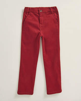 Andy & Evan Boys 4-7) Red Twill Chinos