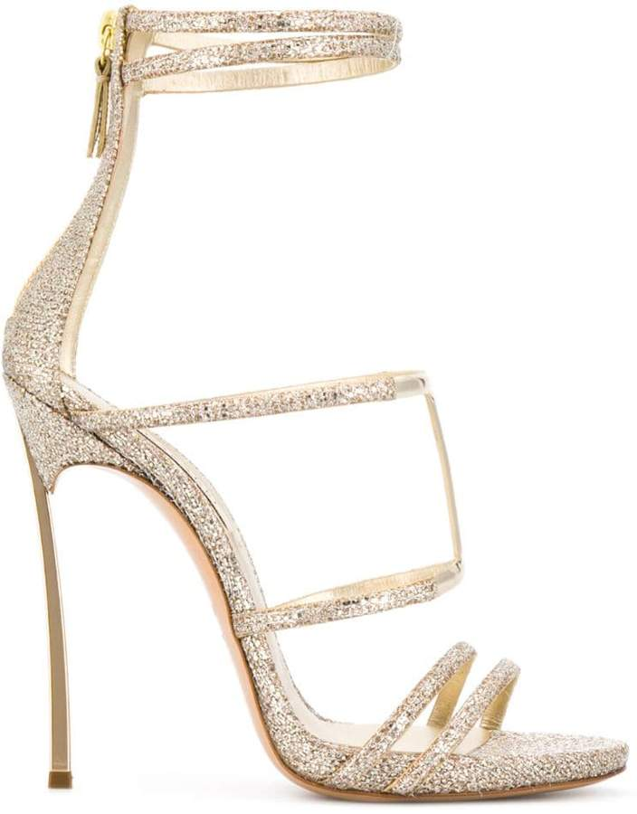 1fe6763e31 Gold Thin Strap Heels Sandals - ShopStyle