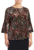 Nipon Boutique Plus Paisley Knit Pullover