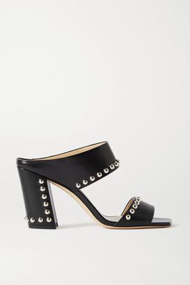 Jimmy Choo Matty 85 Studded Leather Sandals - Black