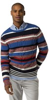 Tommy Hilfiger Custom Fit Multi Stripe Cable Sweater