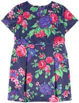 MSGM Printed velvet dress