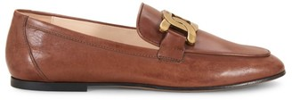 Tod's Chain Detail Leather Loafers