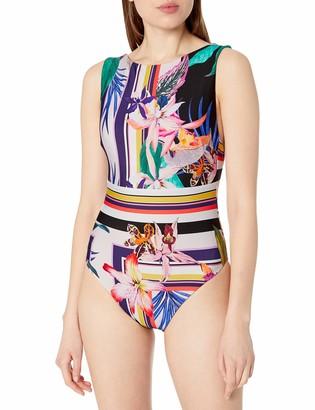 Trina Turk Women's High Neck One Piece Swimsuit