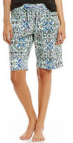 Hue HUEtopia Ornament Dreams Floral Medallion Jersey Bermuda Sleep Shorts