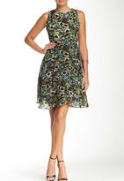 Taylor 5606M Sleeveless Jewel Multi-Color Printed Cocktail Dress