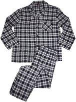 Hanes Mens Tall Plaid Flannel Pajamas, Black, Grey 36123-X-LargeTall