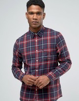 Jack Wills Shirt In Regular Fit In Check Navy/Red
