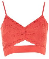 Topshop Broderie cut out bralet