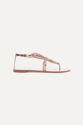 Sophia Webster Butterfly Metallic-leather Sandals - Silver