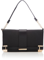 Black Metal Corner Shoulder Bag