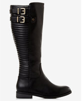 Express black quilted riding boot
