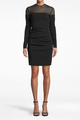 Nicole Miller Combo Long-Sleeve Dress