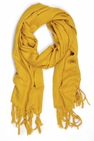 LoveQuotes Scarves Love Quotes Linen Knotted Fringe Scarf in Old Gold