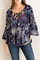 Entro Floral Crinkle Top