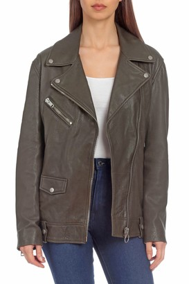 Bagatelle NYC Lamb Leather Boyfriend Biker Jacket