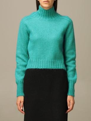 Alberta Ferretti Sweater Mohair And Virgin Wool Turtleneck