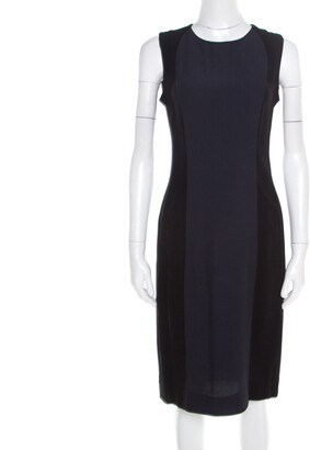 Marni Colorblock Sleeveless Crepe Dress M