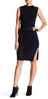Lucy Paris Knit Skirt with Eyelet Belt
