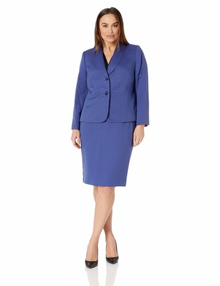 Le Suit LeSuit Women's Size Plus 2 Button Shawl Collar Novelty Skirt Suit