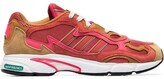 adidas orange Temper Run Subtle 90s leather and suede low-top sneakers