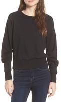 Socialite Women's Ruched Sleeve Sweatshirt