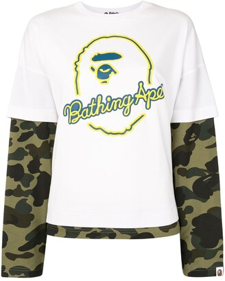 A Bathing Ape layered camouflage T-shirt