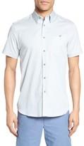 Ted Baker Men's Munkee Extra Slim Fit Diamond Print Sport Shirt