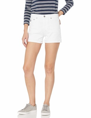 AG Jeans Women's Hailey Ex-Boyfriend Roll Up Jean Short in White 32
