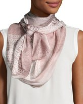 Burberry Ultra Wash Mega Check Silk Scarf, Rose