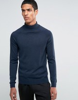 Selected Homme Silk Mix Roll Neck Jumper