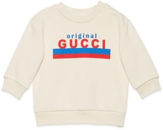 "Gucci Baby ""Original print sweatshirt"