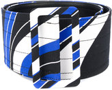 Emilio Pucci contrast printed belt - women - Leather/Viscose - XS