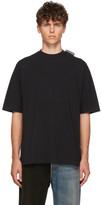 Balenciaga Black Logo Tab Regular T-Shirt