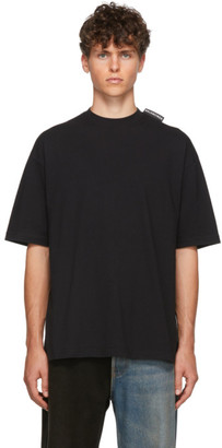 Balenciaga Black Logo Tab Regular T-Shirt