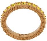 Versace logo embellished ring