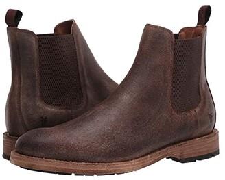 Frye Bowery Chelsea (Black Stonewash Leather) Men's Boots