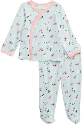 Bestaroo Spring Bloom Top & Footie Pants Set
