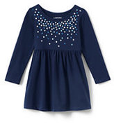 Classic Toddler Girls Embellished Gathered Waist Dress-Purple