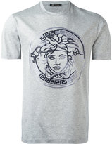 Versace embroidered faded Medusa T-shirt - men - Cotton - S
