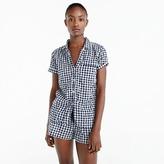 J.Crew Gingham pajama top