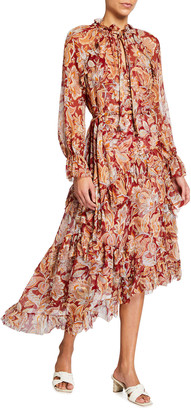 Zimmermann Ladybeetle Ruffle Midi Dress
